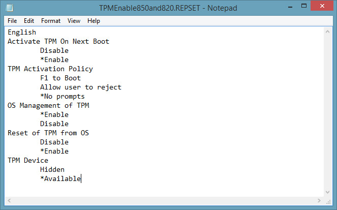 surface pro 3 reset clear tpm