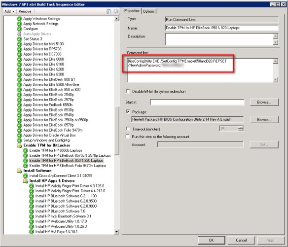 Enabling TPM for BitLocker Protection on HP Laptops during OSD with