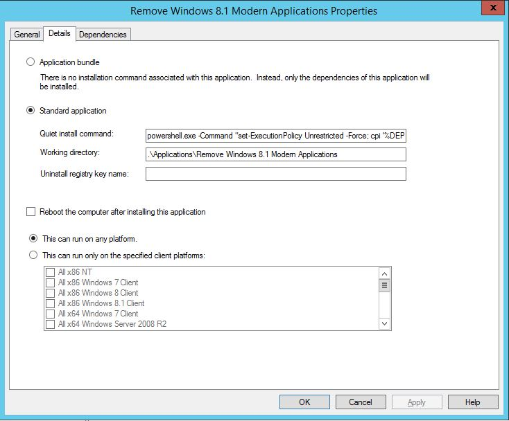 Removing Windows 8 1 Modern Applications during your MDT