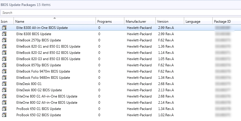 Updating HP BIOS Versions Using Configuration Manager Task